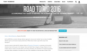 San Francisco Sports Chiropractor Interviewed for His Work with The 2016 Olympic Trials